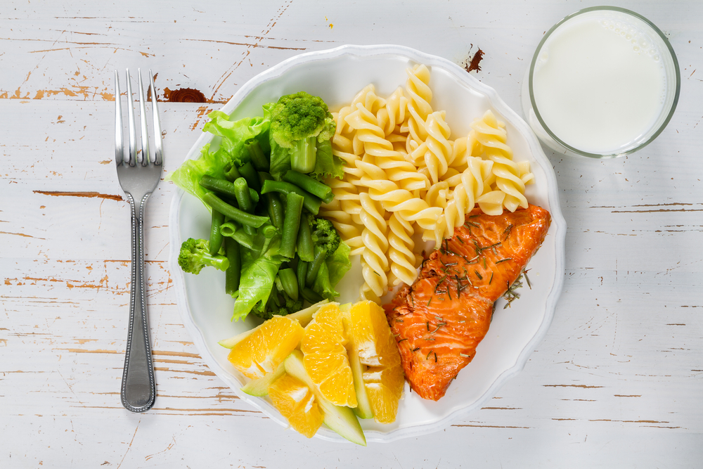 Lautasmallin noudattaminen on helppo tapa varmistaa ravintoaineiden saanti ja pitää paino kurissa. Kuva: Shutterstock
